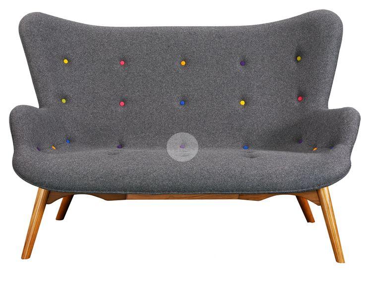 Replica Grant Featherston R161 2 Seater Sofa - Multi coloured