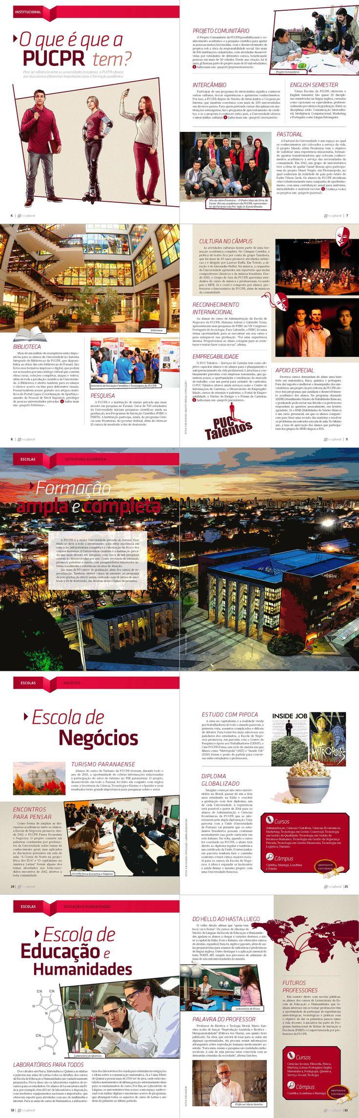 Designed by Lais Pancote :: PAGES #SejaPlural Magazine Edição Especial Vida Universitária PUCPR - Olik Comunicação - October/2013