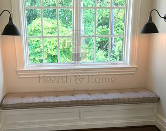 Custom hand Tufted Cushion, Farmhouse  cushion,  Tufted  bench Cushion  , Daybed Mattress, Kitchen Cushion , French Mattress, Floor Cushion