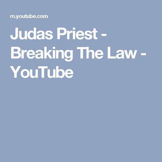 Judas Priest - Breaking The Law - YouTube
