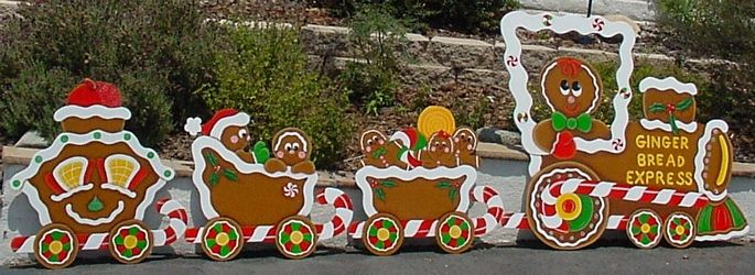 Christmas gingerbread train set