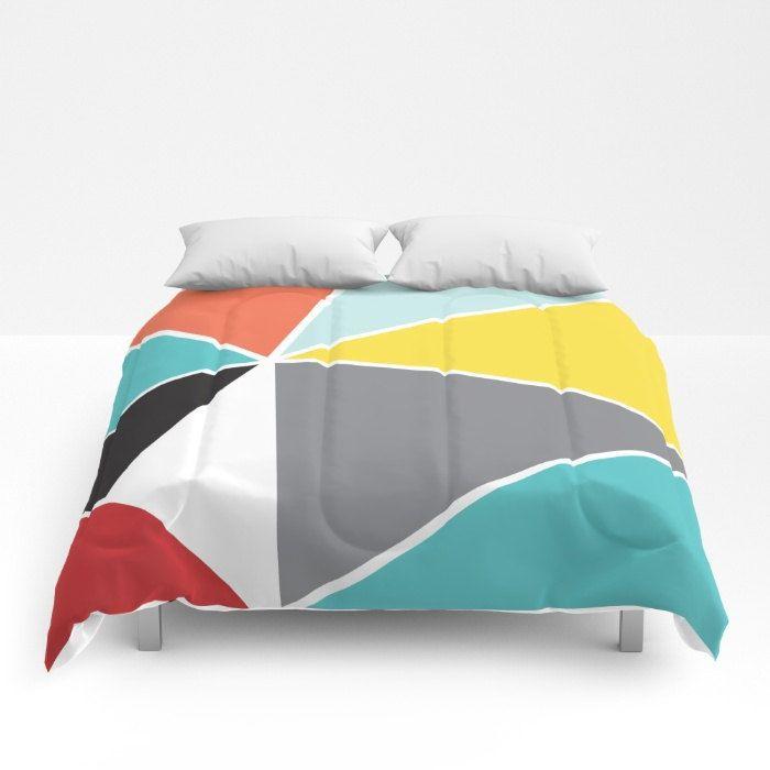 Triangles Comforter - Modern Geometric Bedding - Full Size Comforter - Queen Size Comforter - King Size Comforter - Aldari Home by AldariHome on Etsy