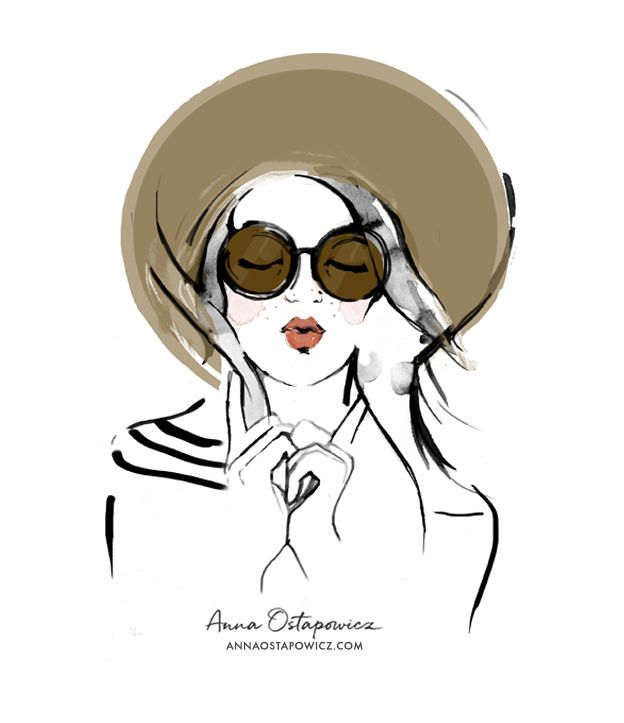 Portrait Illustration, Oh La La Magazine, Anna Ostapowicz