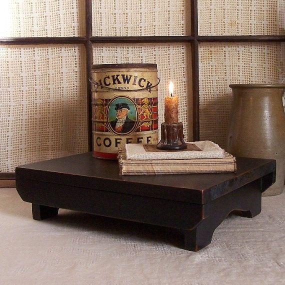 Primitive Riser Bench Farmhouse Table Centerpiece Sideboard Accent Lamp Black / Color Choice. $32.00, via Etsy.