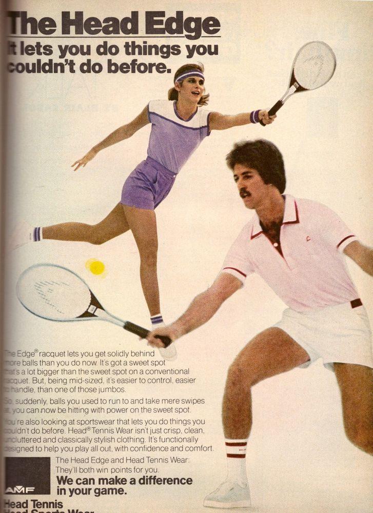1980 Head Tennis Racket Clothing Apparel Print Advertisement Ad Vintage VTG 80s | eBay