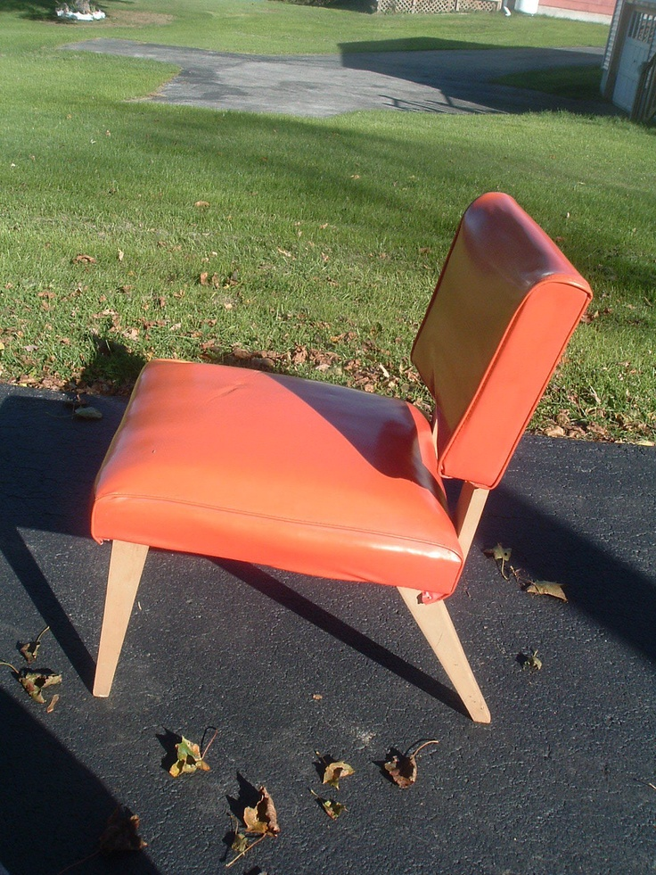 Vintage Viking Artline Accent Lounge Chair Orange Danish Modern Eames Sty | eBay (Again, great in all areas except not wide enough.)