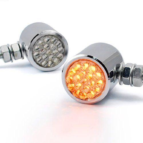 custom chrome mini bullet led turn signal blinker light. Black Bedroom Furniture Sets. Home Design Ideas