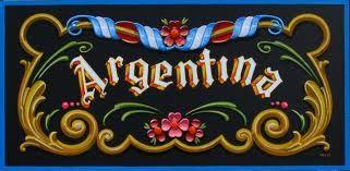 Argentina, cartel fileteado.