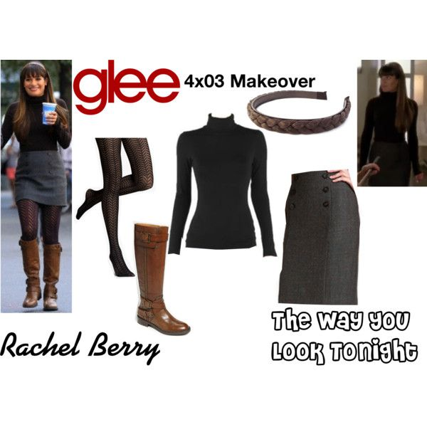 """Rachel Berry (Glee) : The Way You Look Tonight"" by aure26 on Polyvore"