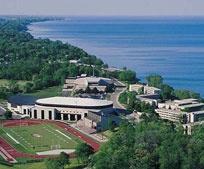 Carthage College in Kenosha.  Beautiful Campus.  Undergraduate study only.