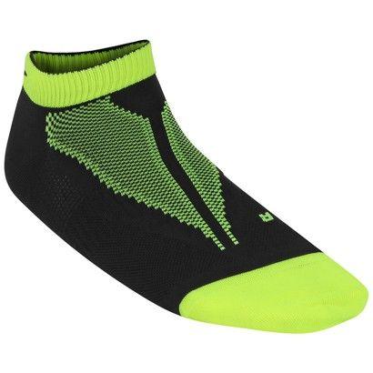 Meia Nike Elite Hyper Lite Cano Baixo - Verde Limão+Preto