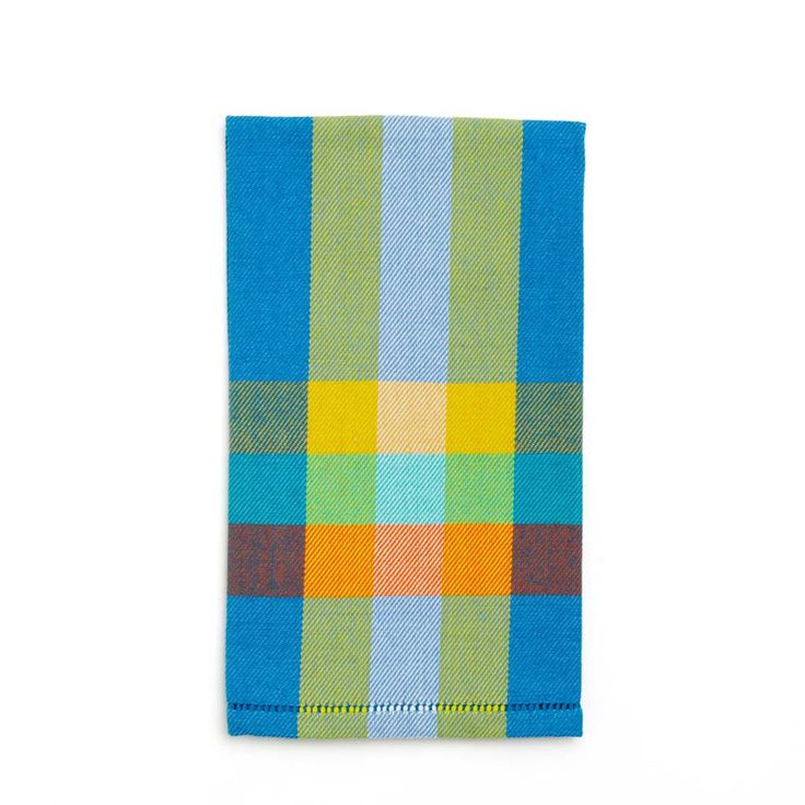 Blue and Yellow Check Hand Towel - Sri Lanka | Far & Wide Collective Canada