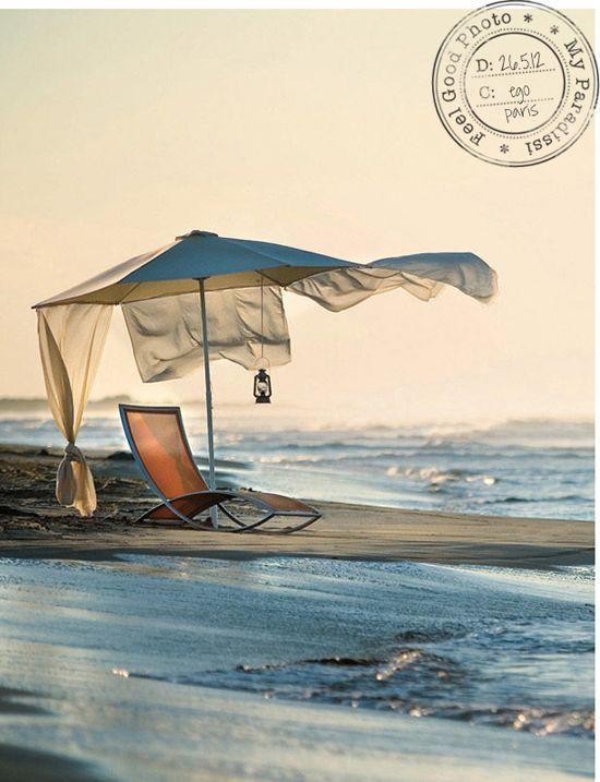 Umbrella for one. Do you ever venture to the beach solo?