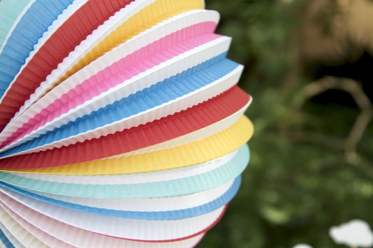Just love these accordian rainbow lanterns. So colourful and vibrant!