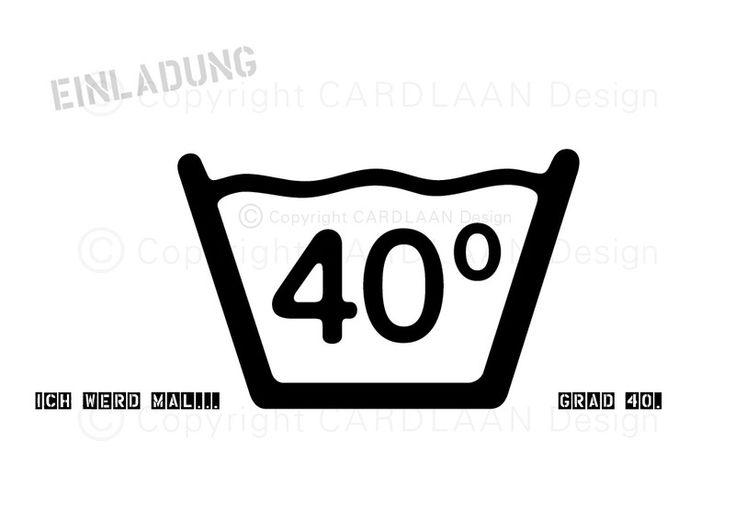 einladungskarte zum 40 geburtstag – cloudhash, Einladung