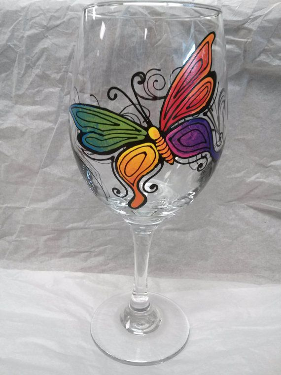 Butterfly designs for glass painting - photo#48