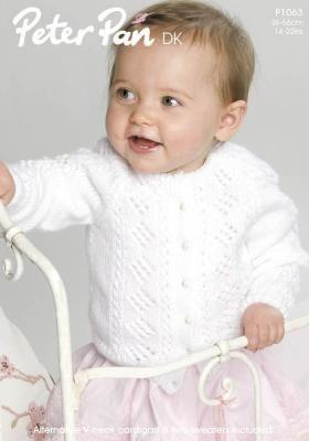 Очаровательный жакет спицами для малыша, выполненный из мягкой акриловой пряжи с нейлоном средней толщины. Вязание жакета осуществляется регланом...