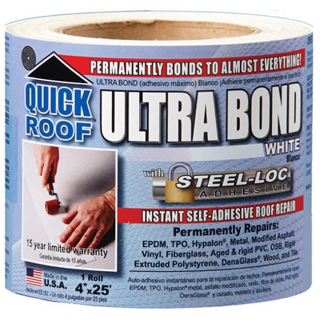 Cofair Products Ubw425 4 In X 25 Ft White Ultra Bond Instant Self Adhesive Roof Repair In 2020 With Images Roof Repair Rv Roof Repair Repair