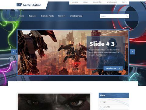 GameStation Free WordPress Theme