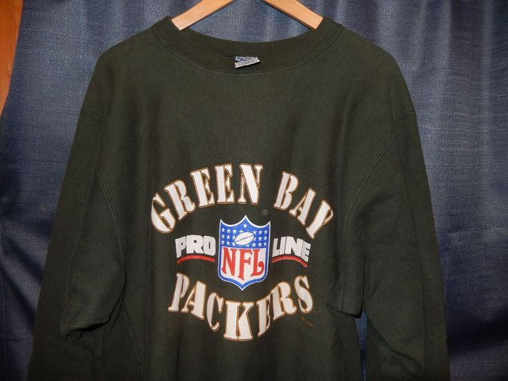 VTG Champion Green Bay Packers NFL Sweatshirt Reverse Weave 1994 XL Green jersey #Champion #GreenBayPackers