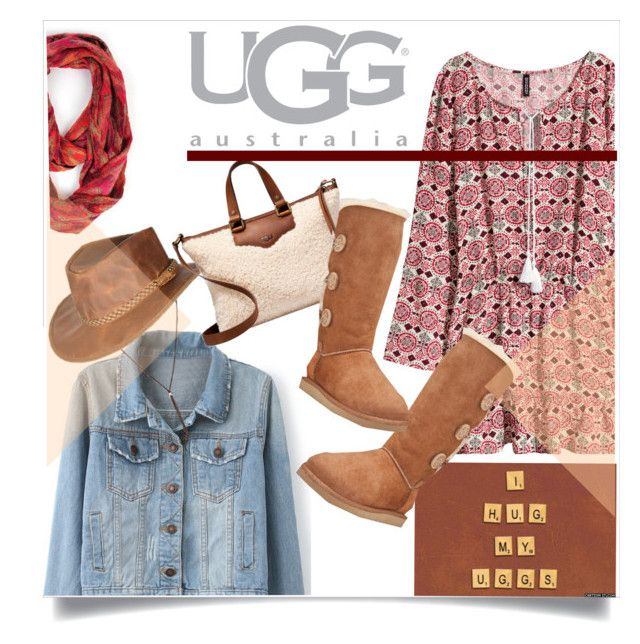 """""""Boot Remix with UGG : Contest Entry"""" by judysingley-polyvore ❤ liked on Polyvore featuring Patchington, H&M, UGG Australia and Overland Sheepskin Co."""