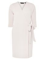 Womens Oyster Wrap Fit and Flare Dress- Oyster
