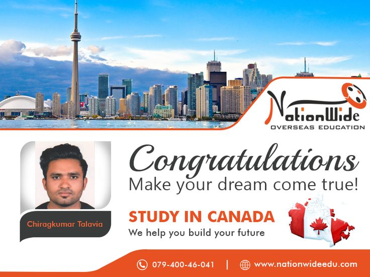 Congratulations to Chiragkumar Talavia for successful visa approval of Canada. We Nationwide Overseas Education feel so proud on his achievement. You can also get visa of your dream study destination with the help of our guidance. http://www.nationwideedu.com/2017/12/22/congratulations-getting-student-visa-overseas-study-canada/  #StudyInCanada #visaconsultant #NationWide