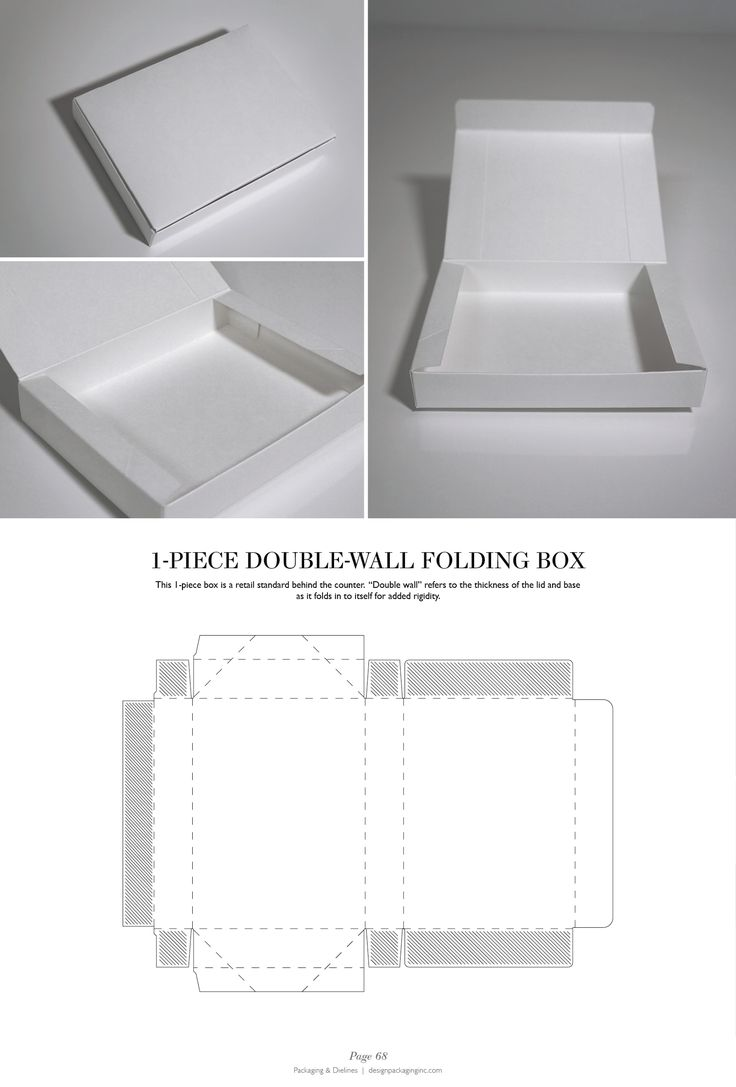 1-Piece Double-Wall Folding Box - Packaging & Dielines: The Designer's Book of Packaging Dielines