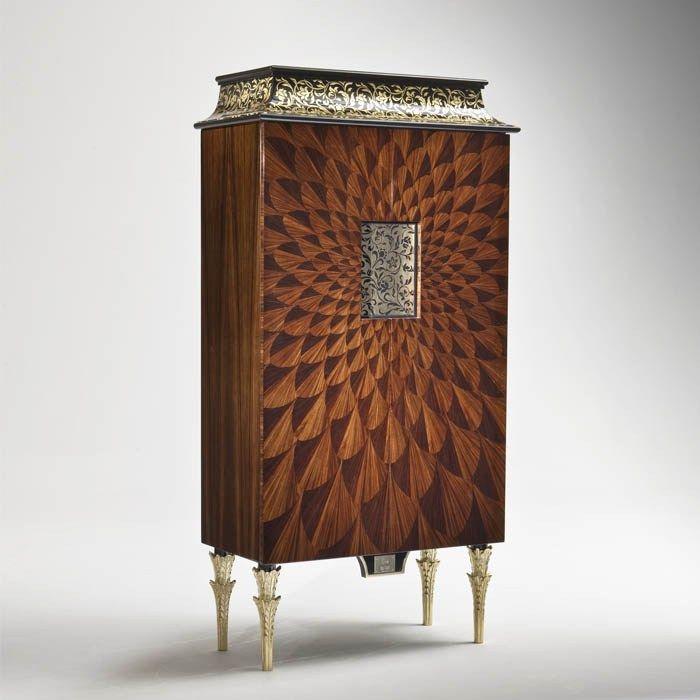Credenza in legno con ante a battente B117R Collezione Butterfly by Rozzoni Mobili d'Arte design Statilio Ubiali