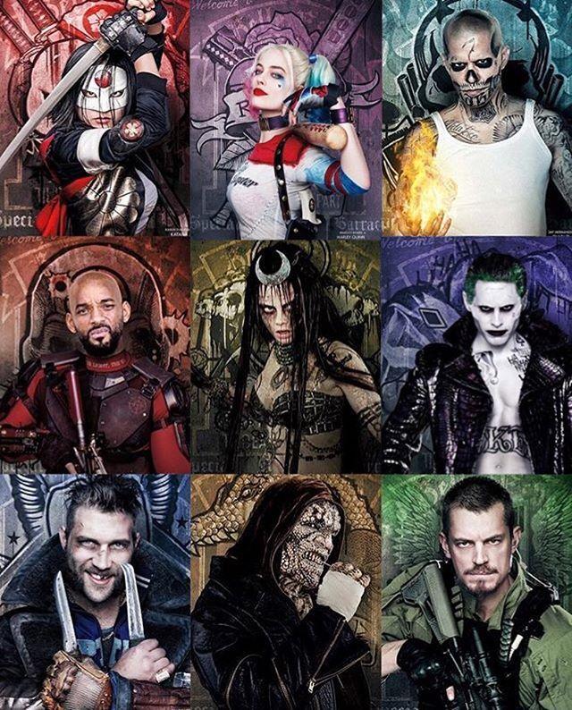 Suicide Squad Character Posters Released!  #SuicideSquad #Comics #DC #Dccomics #Dcuniverse #JusticeLeague #Joker #HarleyQuinn #Deadshot #Batman