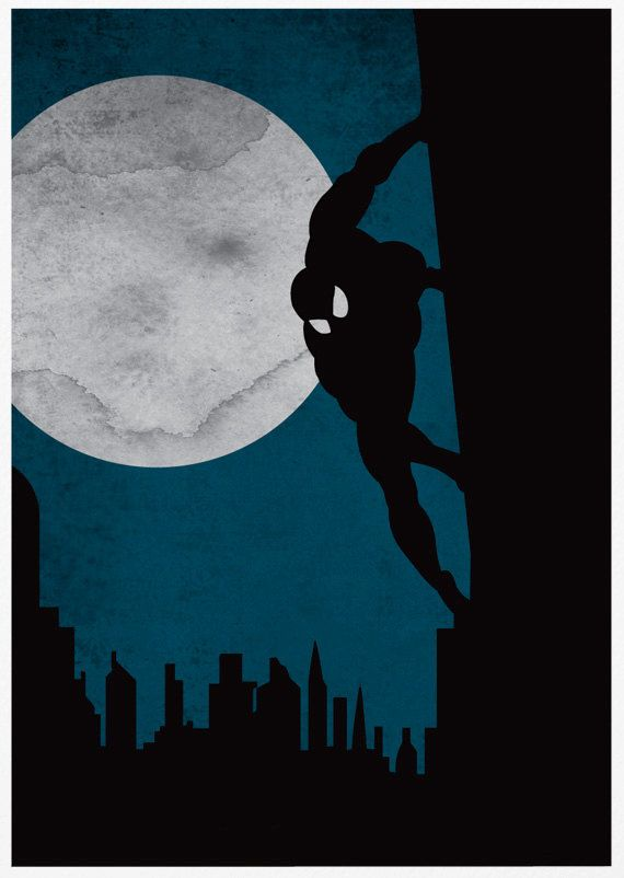 Batman Iron man and Spiderman 11X17 Poster Set by sanasini on Etsy, $40.00