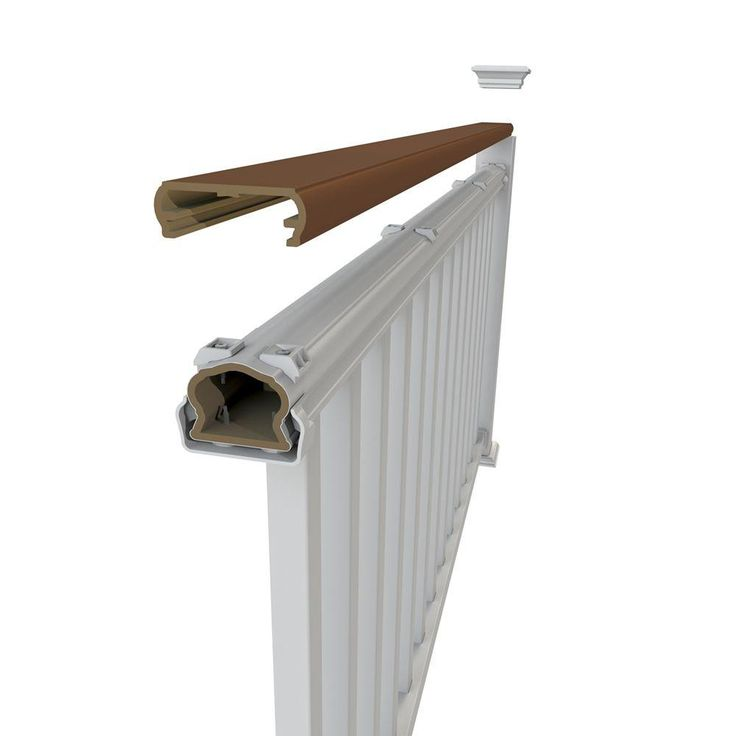 Veranda 8 ft. Brazilian Walnut Decorative Rail Cover for ...