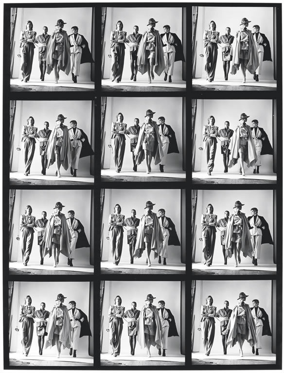 Nude, Paris, aka Models - Nude and Dressed, Contact Sheet © Helmut Newton