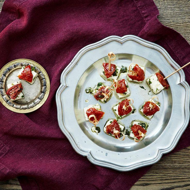 Marinoitu kotijuusto   K-ruoka #joulu #pikkujoulu #cocktailpalat