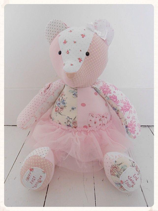 Babygrow Bear, Keepsake Memory Bear, Free Personalisation, Size 'Grand' £40.00
