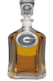 UGA Georgia Bulldogs Power G Capitol Decanter with Pewter Logo $60.00