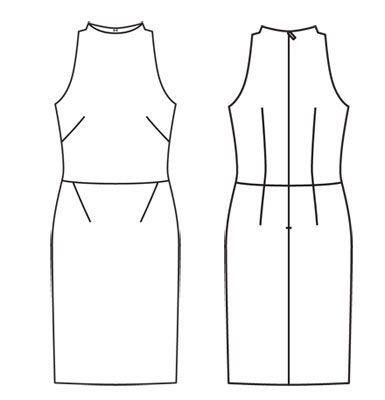 Платье - выкройка № 114 B из журнала 1/2012 Burda – выкройки платьев на Burdastyle.ru