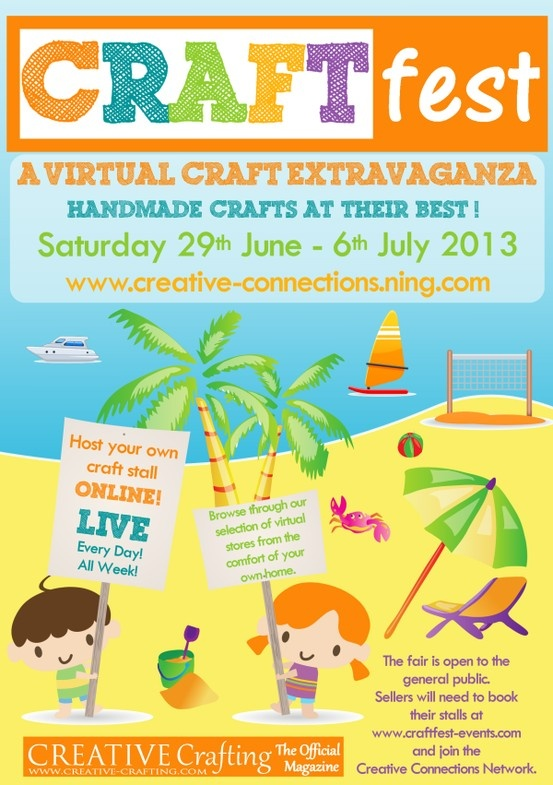 Welcome to our Community Event, hosted on the Creative Connections Social Network. This is a fantastic opportunity to put your business right at the heart of the Crafting Community. Meet people with similar interests from all over the world. http://www.craftfest-events.com