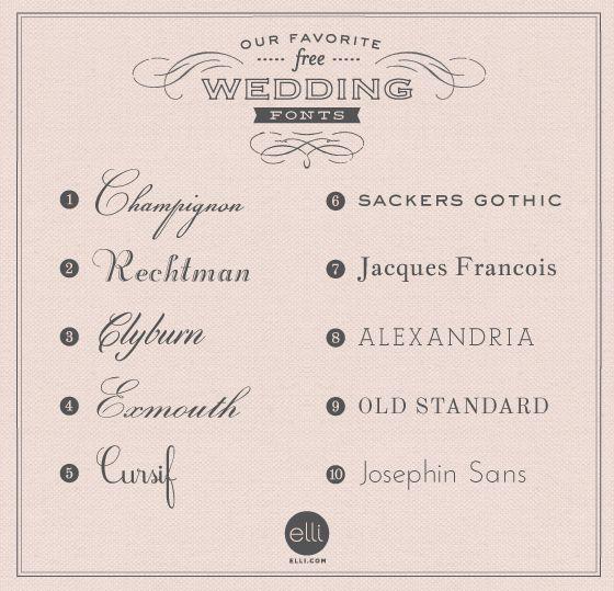 Popular Wedding Invitation Fonts: 42 Best Wedding Fonts Images On Pinterest