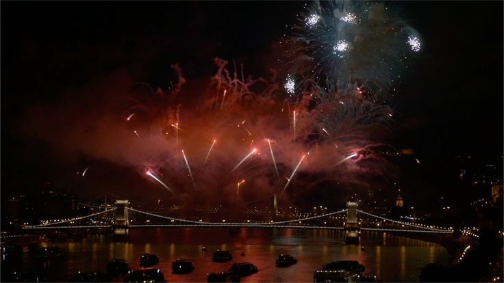 20th August, 2016 - Saint Stephan's Day in Hungary  Celebrated with a half-hour fireworks display on the Danube, which is attended by thousand of people on both river banks and is watched by many from the hills on the Buda side and from the rooftops.
