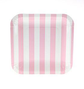 Tallrik- rosa fyrkantig