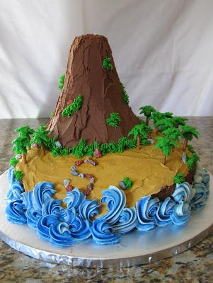 Island Volcano Cake