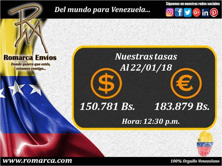 #TasasDeCambio 12:30pm Hora 🕐 Este #USA las mejores del mercado alternativo! Visitanos en 👉 www.romarca.com  #Remesas #Venezuela #Panama #Italia #Mexico #España #Aruba