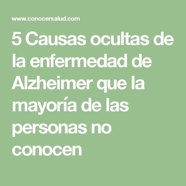 5 Causas ocultas de la enfermedad de Alzheimer que la mayoría de las personas no conocen