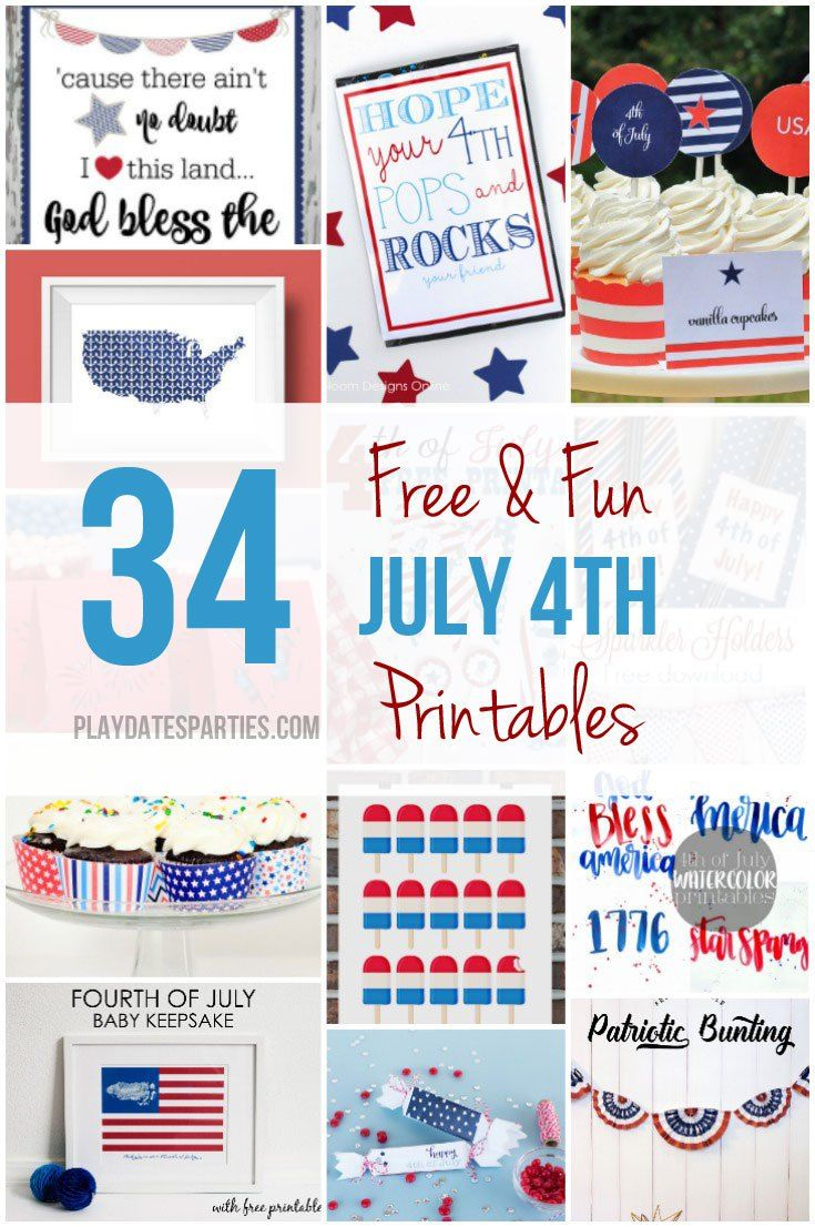 This July 4th printables roundup has everything 2016 had to offer. From kids games to party printables and home decor; you'll to find exactly what you need!