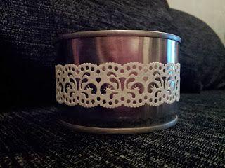 Diy tin candle holder