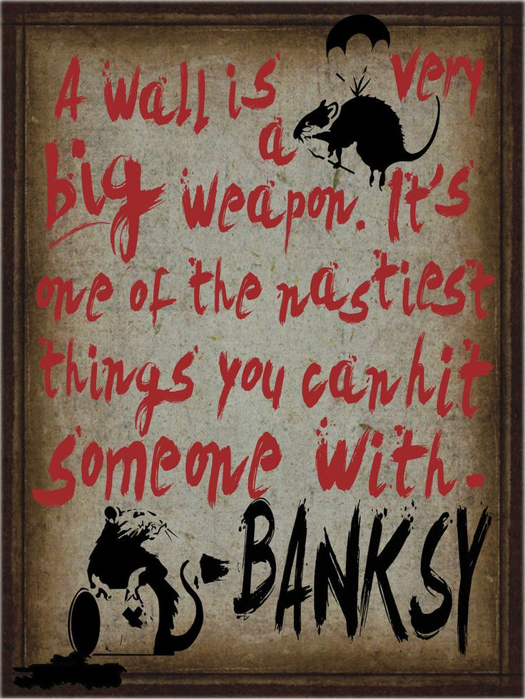 Poster I did with a quote from Banksy (the world renowned graffiti artist from the UK) and his famous rats. Thought about turning this into a desktop wallpaper.