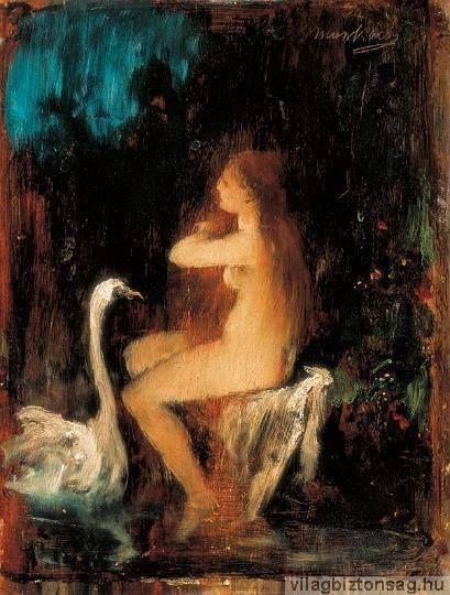 Munkácsy Mihály (1844-1900) - Léda hattyúval