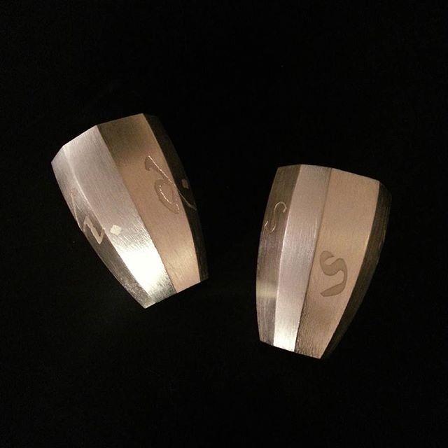 Engraved water beakers. Silver. Lasse Bæhring