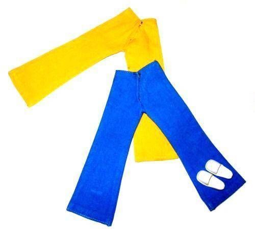 Sindy Blue & Yellow Trousers With White Clogs 44162 1977
